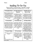 Spelling Activities to use with a 10 word list