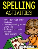 Spelling Activities to use with any word list