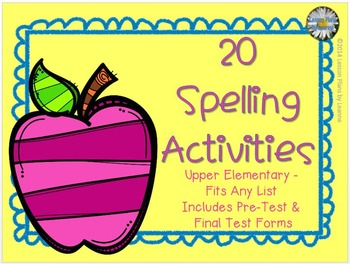 spelling activities upper elementary for any list by lesson plans by leanne. Black Bedroom Furniture Sets. Home Design Ideas