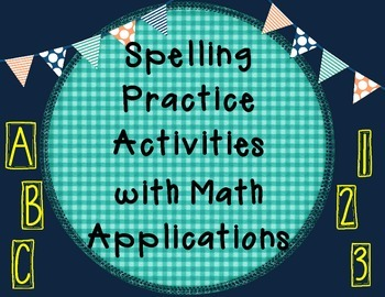 Spelling Activities with Math Concept Integrations
