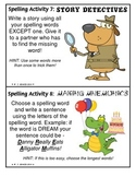 Spelling Activity Cards