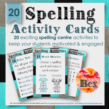 Spelling Center Activity Cards (20 Pack)
