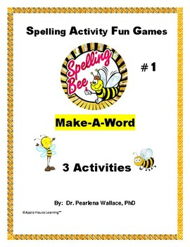 Spelling Activity Games Grades 3rd, 4th, 5th, 6th