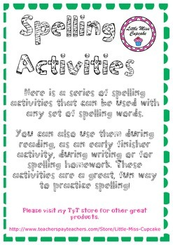 Spelling Activity Grid