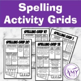 Spelling Choice Board - Grids