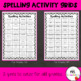 Spelling Activity Grids For Any Spelling List