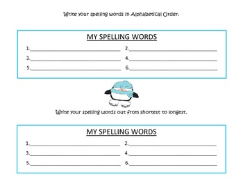 Spelling Activity Pack