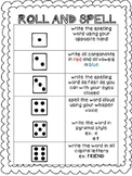 Spelling Activity: Roll and Spell {Freebie}