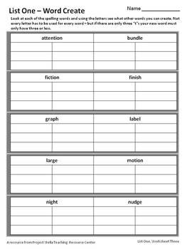 Spelling Activity Set