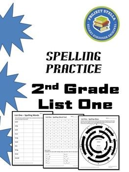 Spelling Activity Sheets - List One - 2nd Grade