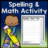 Spelling and Math Activity: Spelling and Math (How much is your word worth?)