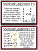 Word Work Task Cards - Spelling, Vocabulary, Centers and H