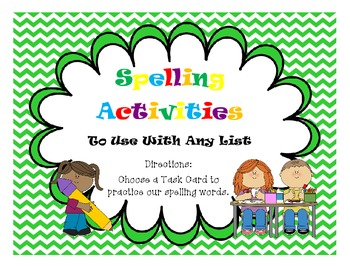 Spelling Activity Task Cards to Use with Any Spelling List