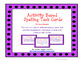 Spelling Activity and Writing Task Card Bundle