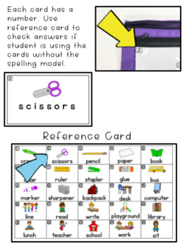 Spelling - Adapted for special education