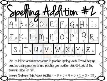 Spelling Addition #2