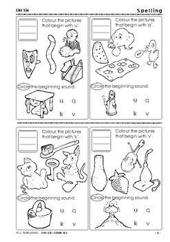 Spelling - Book 1 - Ages 5-6