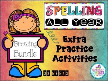 Spelling All Year {Extra Practice Activities - Growing Bundle}