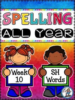 Spelling All Year {Week 10 - SH Word}