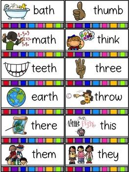 Spelling All Year {Week 11 - TH Word}