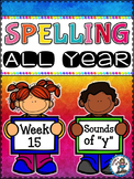 """Spelling All Year {Week 15 - Sounds of """"Y""""}"""