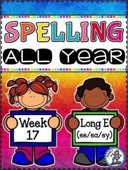 Spelling All Year {Week 17 - Long e (ee/ea/ey) Words}