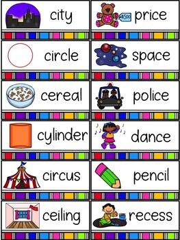 Spelling All Year {Week 22 - Soft c Words}
