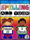 Spelling All Year {Week 25 - S Blends}