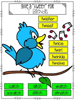 Spelling All Year {Week 26 - T Blends (tw, tch)}