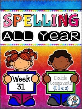 Spelling All Year {Week 31 - Double Consonants (ff, ll, ss, zz)}