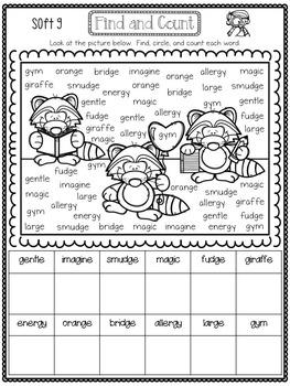 Spelling All Year {Week 35 - Soft g}