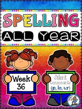 Spelling All Year {Week 36 - Silent Consonants (gn, kn, wr)}