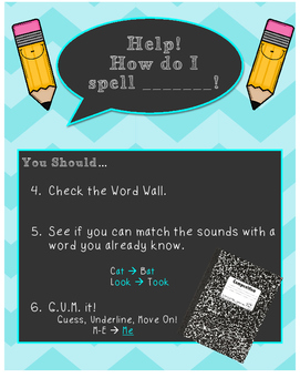 Spelling Anchor Chart Reference