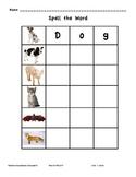 Spelling Animal Names