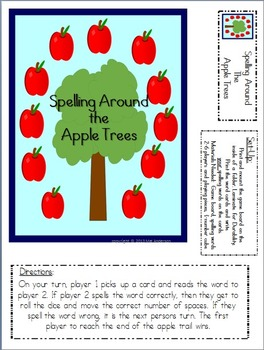 Spelling Around the Apple Trees-A file folder game