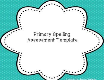 Spelling Assessment Template