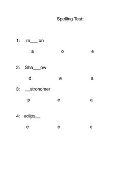 Spelling Assessments
