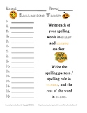 Spelling Assignment for Any List- Halloween Words