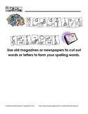 Spelling Assignment for Any List- Magazine Cut-Out Spelling