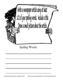 Spelling Assignment for Any List- Newspaper