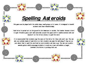 Spelling Asteroids (for Kinesthetic learners)
