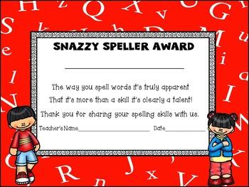 Spelling Award