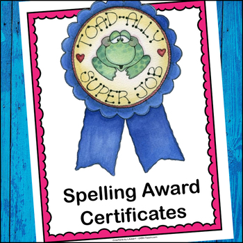 Spelling Award Certificates