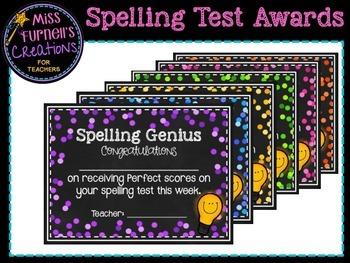 Spelling Awards