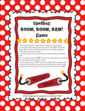 Spelling BOOM, BOOM, BAM! Game for Ohio Journey's Reading Series