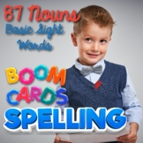 Spelling BOOM Cards with Audio Nouns Basic Sight Words, Di