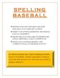 Spelling Baseball!