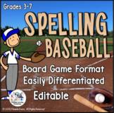 Spelling Baseball - A Spelling Practice Board Game