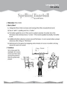 Spelling: Baseball Game (Ten-Minute Activities)