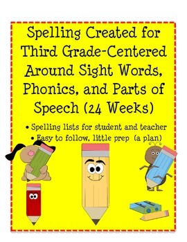 Spelling Based on Parts of Speech, Phonics, and Hard to Spell Words